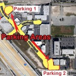 Yellow street and loaner lot parking. Back of venue also allowed.